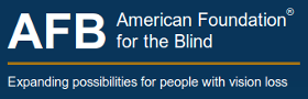 Image of the American Foundation for the Blind logo.